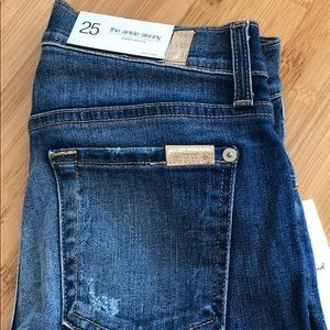 7 for all mankind brand new ankle skinny jeans